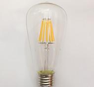 1 pcs kwb E26/E27 10W 10 COB 850 lm Warm White ST64 edison Vintage LED Filament Bulbs AC 220-240 V