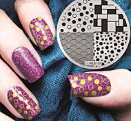 2016 mais recentes placas de modelo de carimbo de imagem versão padrão da moda nail art