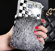 Luxury Simulation Fur Surface Back Cover for Samsung Galaxy S5/Galaxy S4