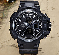 Masculino Relógio Esportivo Relógio de Moda Relógio de Pulso Quartzo Calendário Cronógrafo alarme Noctilucente PU Banda Preta marca