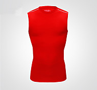 Vansydical Men's Quick Dry Fitness Tops Red / Gray / Purple