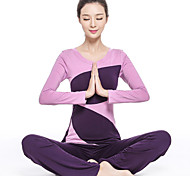 Vangona ® Yoga Clothing Sets/Suits Yoga Pants + Yoga Tops Breathable / Lightweight Materials Stretchy Sports Wear