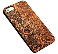 Mayan Style Removable Luxury Pear Wood Back Case for iPhone 6s 6 Plus