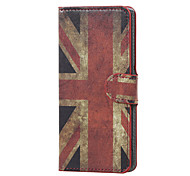 For Wiko Case Card Holder / with Stand / Flip / Pattern Case Full Body Case Flag Hard PU Leather Wiko