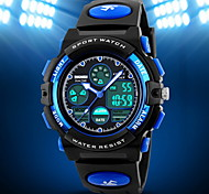 Men's Double Time Analog & Digital Rubber Band Quartz Watch Cool Watch Unique Watch