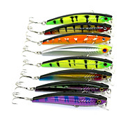 New Minnow 8pcs Hengjia Minnow Baits 93mm 10.4g Fishing Lures Random Colors