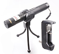 LT-0674 Lockable Muti-image  Adjustable  Match Burning  Green Laser Pointer (1MW,532nm,1x18650,Black)