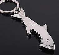 inox requin en acier ouvre-bouteille porte-clés anneau porte-clés