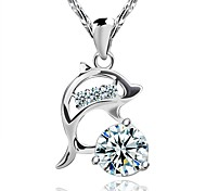 Necklace Pendant Necklaces Jewelry Wedding / Party / Daily / Casual Fashion Silver / Sterling Silver Silver 1pc Gift