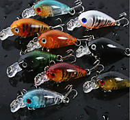 "8 pc pc Manovelle Colori casuali 4g/pc g/1/6 Oncia,4.5cm/pc mm/1-3/4"" pollice,PlasticaPesca a mulinello / Pesca di acqua dolce / Pesca"