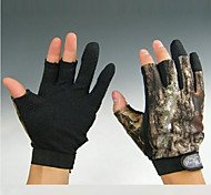Short 3 Fingers Camouflage Fishing Hunting Anti Slip Gloves for XXL Size
