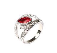 New Vintage Jewelry Women Hollow Rhinestone Elegant Statement Ring