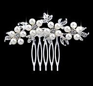 pettini perla di cristallo d'argento per i monili di festa nuziale della signora