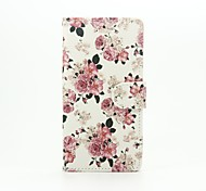 Peony Painted PU Phone Case for Huawei Ascend P9 Lite