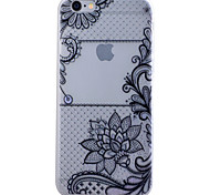 TPU Material Glow in the Dark Translucent Black Flowers Relief Soft Protection Phone Case for iPhone 5/5S/SE