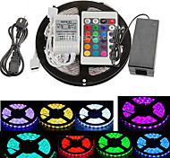 Z®ZDM 5M 300X5050 SMD RGB LED Strip Light 24Key Remote Controller(AC110-240V)