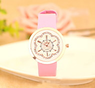 Women's Fashionable  Leisure Diamond Dial Quartz Watch Leather Band Cool Watches Unique Watches