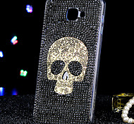 For Samsung Galaxy Case Rhinestone Case Back Cover Case Skull Acrylic Samsung A9