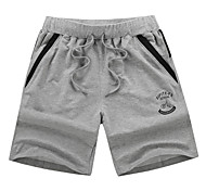 Running Shorts / Bottoms Men's Breathable Fitness / Racing / Football/Soccer / Running Sports Gray / Black
