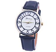 nuevos colores mujeres de las señoras del reloj de GINEBRA, 2 mujeres de los colores claros de la correa de cuero de línea relojes de