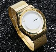 PAIDU Men Luxury Golden Watch Stainless Steel Mesh Band Fashion Casual Design Dial Relogio Masculino