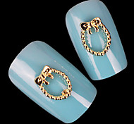 Abstract Mental Gold Nail Jewelry (at Least 10Pcs)