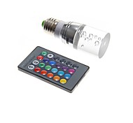 3W Bombillas LED de Mazorca T 1 130-160 lm RGB Control Remoto AC 100-240 V