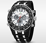 WEIDE® Men's Double Movement Analog Digital Date Display Waterproof Rubber Strap Watch Cool Watch Unique Watch