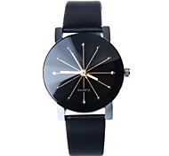 Women's Leather Band White Case Analog Quartz Wrist Watch Gift
