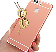 Luxury Gold Plating Aluminum Metal Frame+Mirror Acrylic Back Case For Huawei P9/P8 Lite/P8/Honor 4X/Honor 5X/Honor 7/G8