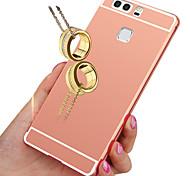 роскошный золотой металлизированный алюминиевый металлический каркас + зеркало акрил чехол для Huawei P9 / P8 облегченная / P8 / честь 4x