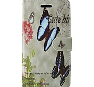 Two Butterfly PU Leather Flip Case with Magnetic Snap and Card Slot for Samsung Galaxy S7/S5/S6/S6 edge/S4/S3/S5 MINI