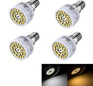 3W E14 Focos LED R50 24 SMD 2835 240 lm Blanco Cálido / Blanco Fresco Decorativa AC 100-240 V 4 piezas