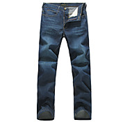 Lesmart Men Mid Rise Straight Blue Casual - LW13314