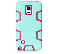 Silicone & Plastic 3 In 1 Armor Hybrid Protection Back Case For Samsung Galaxy Note 4 Cell Phone Cover