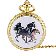 Unisex Pocket Watch Retro Large Round Gold Shell Horse Racing Double Flip Shiying Huai Table Cool Watches Unique Watches