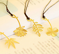 1PC Flowers And Plants Reading Metal Clip Bookmark Gift Book Mark for Kids(Style random)