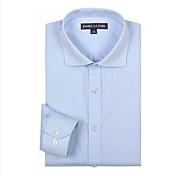 JamesEarl Men's Shirt Collar Long Sleeve Shirt & Blouse Blue - DA112030804
