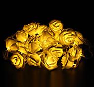 5м 20-под открытый рождественские украшения праздник роза форма теплый белый свет водить свет шнура (220)
