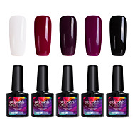 Modelones 5Pcs Gelpolish Soak Off UV Gel Polish Nail Care Shining Color Gel Varnish C104