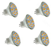 5W GU4(MR11) LED Spotlight MR11 12 SMD 5730 560 lm Warm White Decorative DC 12 V 5 pcs