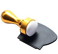 Rund Drucker Nagelkunst Stempel mit schwarzen Schaber Satz für DIY Nagelplatte - Gloden
