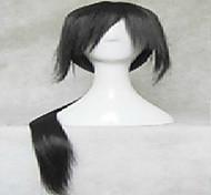 черный парик косплей супер длинные прямые парики из синтетических волос анимированные парики партии