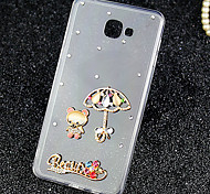 For Samsung Galaxy Case Rhinestone / Transparent Case Back Cover Case Cartoon Acrylic Samsung A9