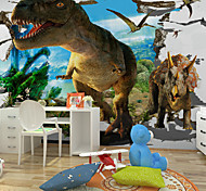 JAMMORY Animals / Fantasy / 3D Wall Stickers 3D Wall Stickers,Canvas 3D Cartoon Dinosaur Murals S M L XL XXL 3XL