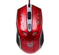 JITE 6D Gaming Mouse 6 Keys Wired Lighting USB Mouse Red Black Gold