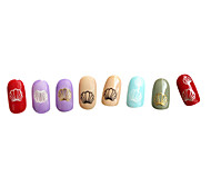 White Bell/Letter Nail Stickers