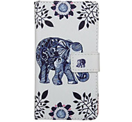 Full Body Wallet / Card Holder / with Stand Elephant PU Leather Hard Case Cover For Huawei Huawei P9