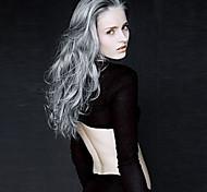 langen lockigen Haar Europäischen Weave grau Haarperücke