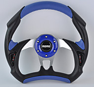 New Universal 310mm 13 Inch Car Momo Modified PU+PVC Material Race Steering Wheel with Horn Button